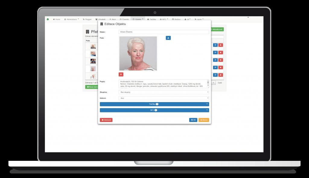 Editace informací o klientovi