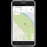 Zobrazení GPS polohy v mapě